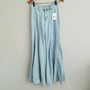 Free People Landon ultra wide leg jeans 0